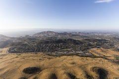 绍森欧克斯和纽伯里公园加利福尼亚鸟瞰图  免版税库存照片