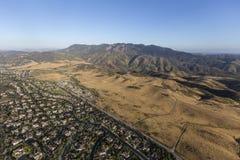 绍森欧克斯纽伯里公园加利福尼亚天线 免版税库存照片