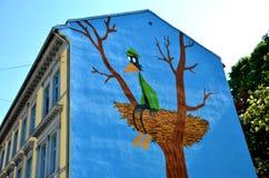 贾森绘画在奥斯陆 库存图片