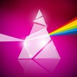 棱镜光谱例证 免版税图库摄影