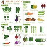 4棵菜调味苦涩,美好,辣和象草的以图例解释者集合 皇族释放例证