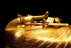 棺材外面tutankhamun 免版税库存图片