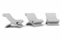 椅子三白色 向量例证