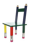 椅子五颜六色的孩子 库存照片