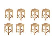 椅子八 库存图片