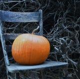 椅子南瓜 图库摄影