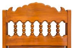 椅子后面木雕刻。 免版税库存照片