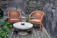 椅子和服务台 库存图片