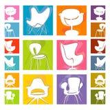 椅子图标mod向量 免版税库存照片