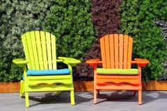 椅子在阳光下 免版税库存照片