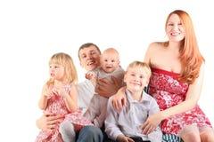 椅子坐三的儿童系列 免版税库存图片