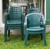 椅子堆积了 库存图片