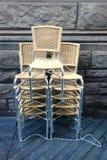 椅子堆积了 免版税库存照片