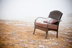椅子多雪的葡萄酒 免版税库存图片
