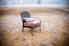 椅子多雪的葡萄酒 免版税图库摄影