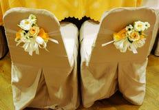 椅子夫妇婚礼 免版税库存图片