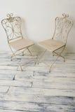 椅子夫妇 免版税库存照片