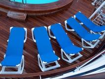 椅子巡航休息室船 库存照片