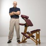 椅子按摩治疗学家 库存照片