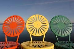 椅子排队了uw 免版税库存图片