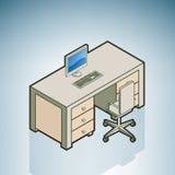 椅子服务台办公室 库存照片