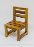 椅子查出的木头 免版税库存图片