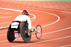椅子残疾人赛跑轮子 免版税库存照片