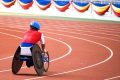 椅子残疾人赛跑轮子 免版税图库摄影