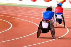 椅子残疾人赛跑轮子 免版税库存图片