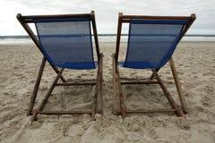 椅子沙子二 免版税库存照片
