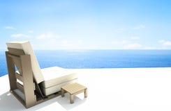 椅子海运视图 向量例证