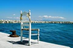 椅子渔夫 免版税库存图片