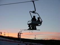 椅子滑雪 免版税库存图片