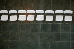 椅子现代设计的线路 库存图片