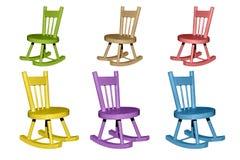 椅子用不同的颜色 免版税库存照片