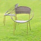 椅子由藤条制成。 库存图片