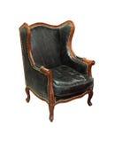椅子皮革老 库存图片