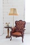 椅子皮革 免版税库存图片