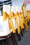 椅子盖子婚礼 免版税库存照片