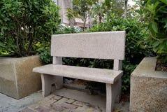 椅子石头 库存图片