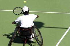 椅子禁用了人人员网球轮子 免版税库存图片