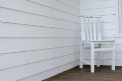 椅子空白木 库存图片