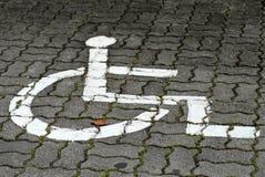 椅子符号轮子 免版税库存照片