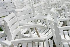 椅子组白色 库存图片