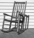 椅子老晃动木 库存照片