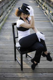 椅子舞蹈演员爵士乐 图库摄影