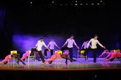 椅子舞蹈这校园展示 库存图片