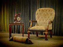 椅子葡萄酒 库存照片
