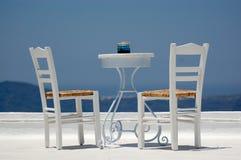 椅子表 免版税图库摄影