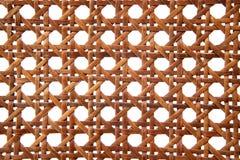 椅子被手工造的藤条纹理thonet 免版税库存图片